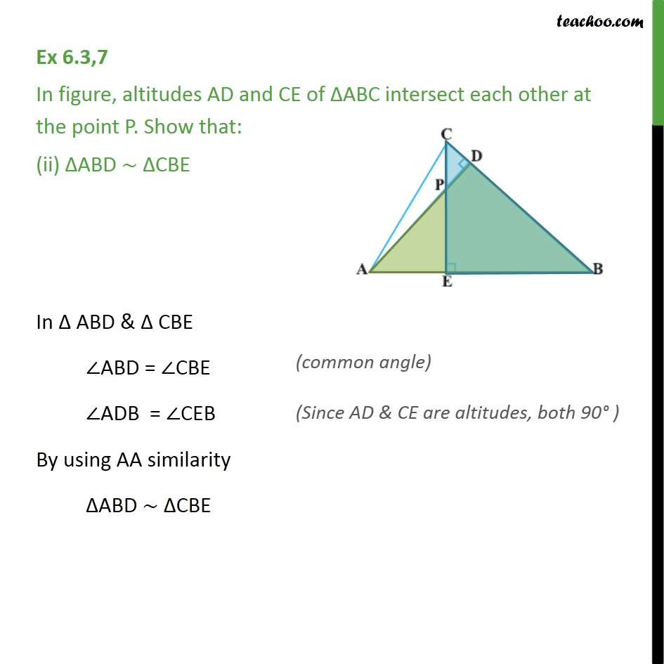 Ex 6.3, 7 - Chapter 6 Class 10 Triangles - Part 2