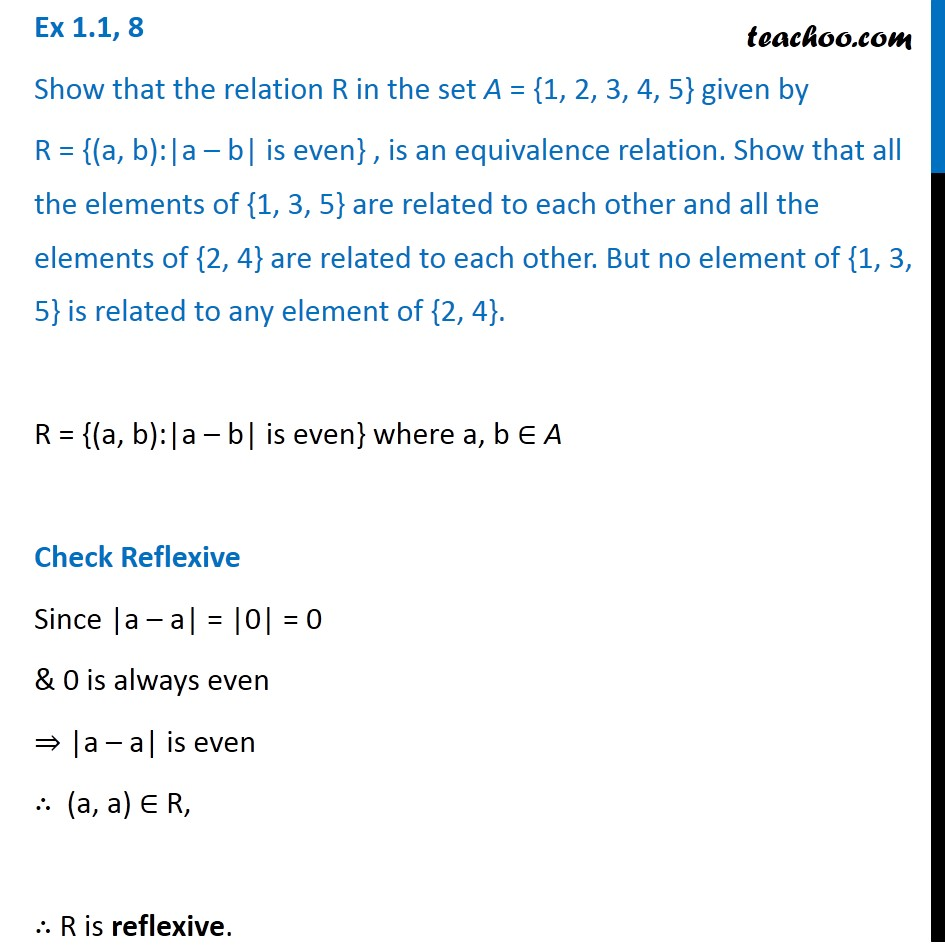 Ex 1.1, 8 - Chapter 1 Class 12 Relation and Functions - Part 2