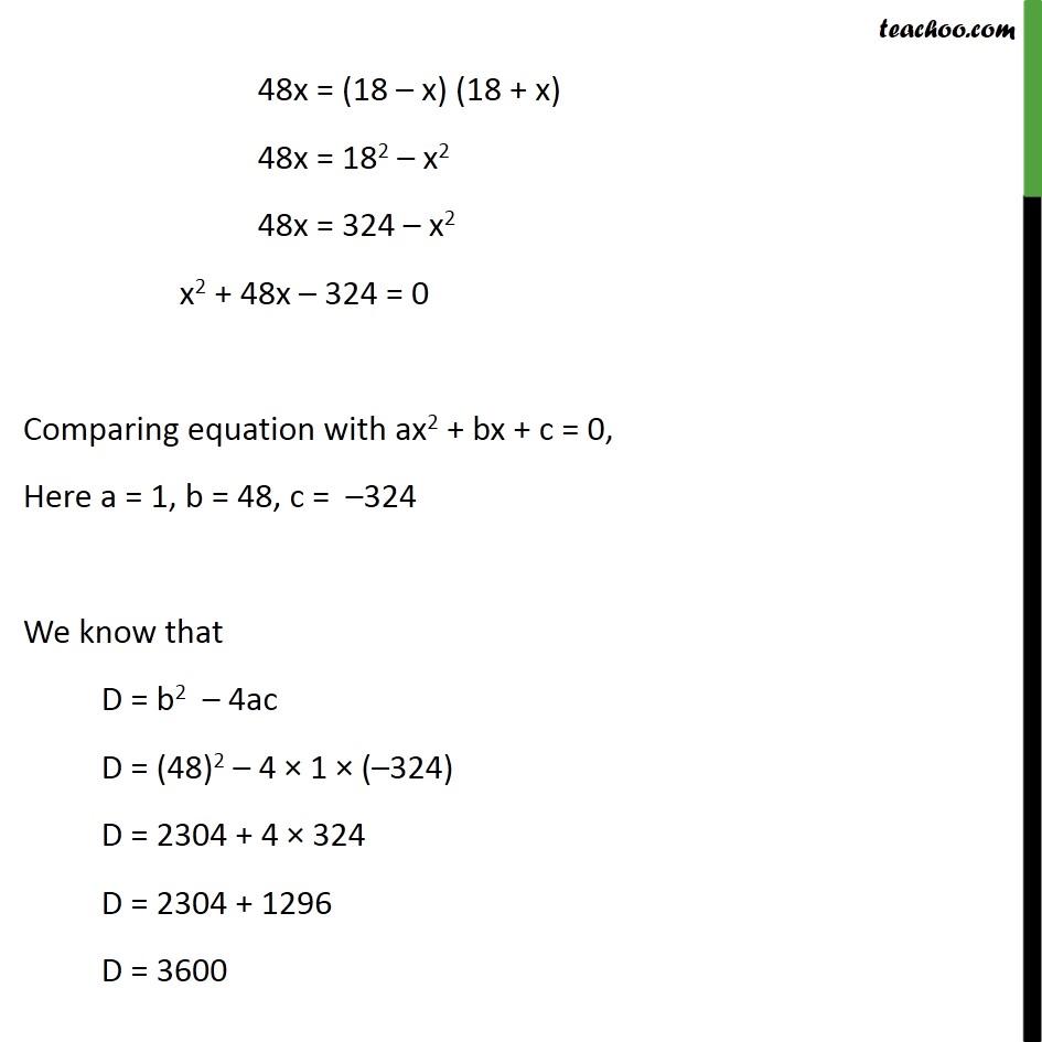 Example 15 - Chapter 4 Class 10 Quadratic Equations - Part 3