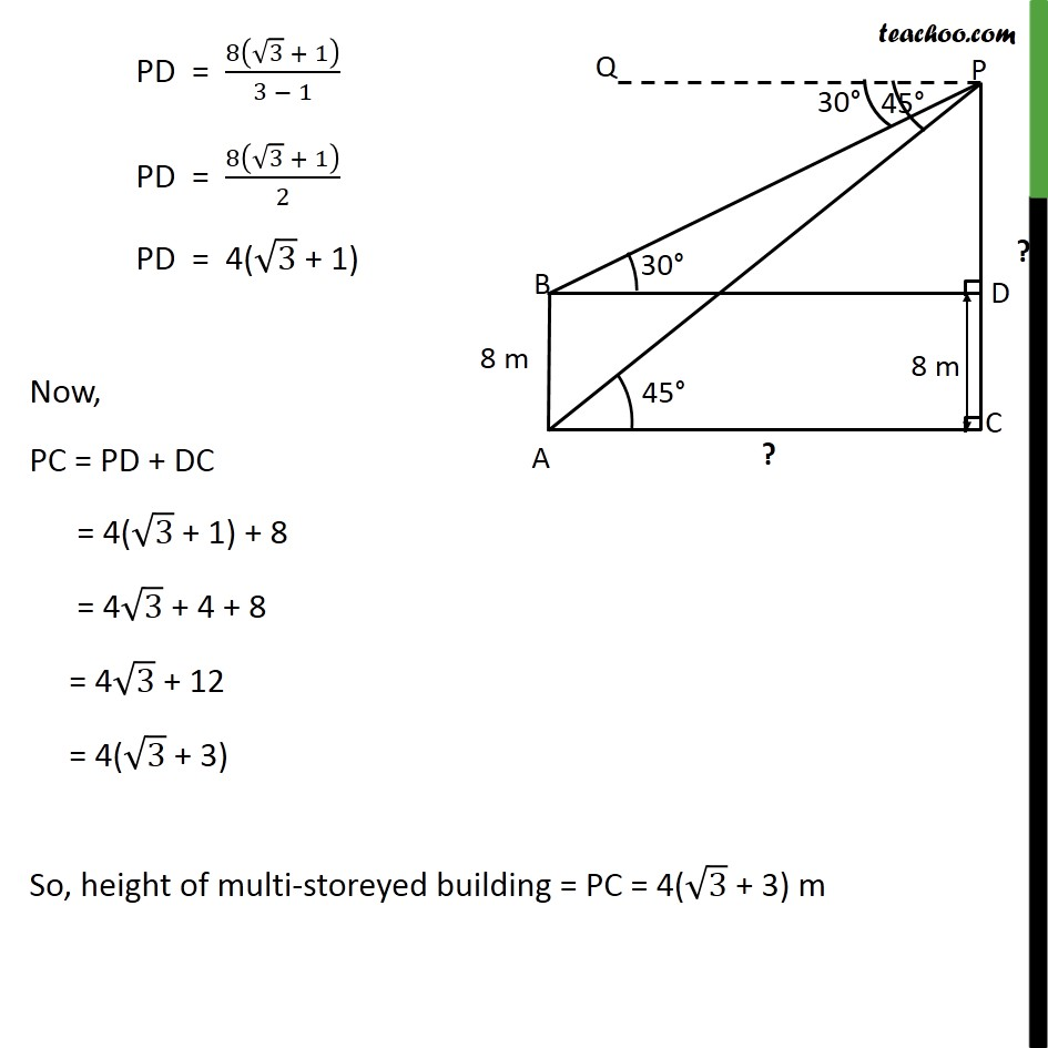 Example 6 - Chapter 9 Class 10 Some Applications of Trigonometry - Part 5