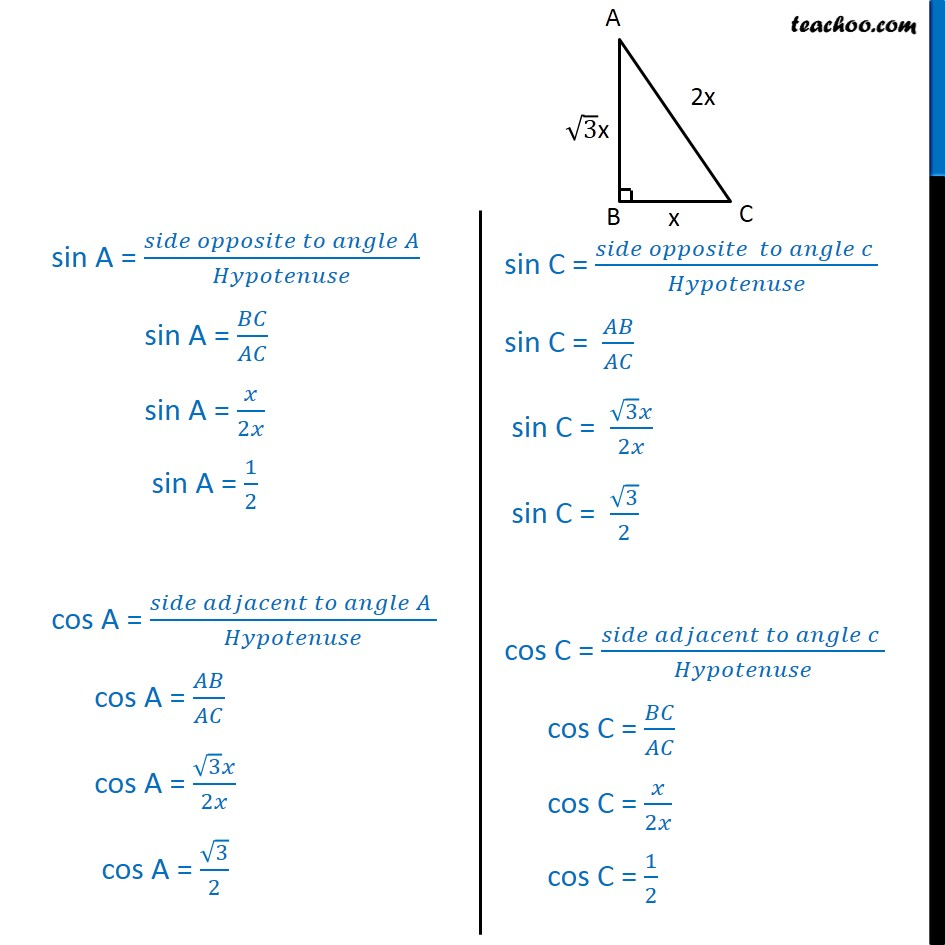 Ex 8.1, 9 - Chapter 8 Class 10 Introduction to Trignometry - Part 3