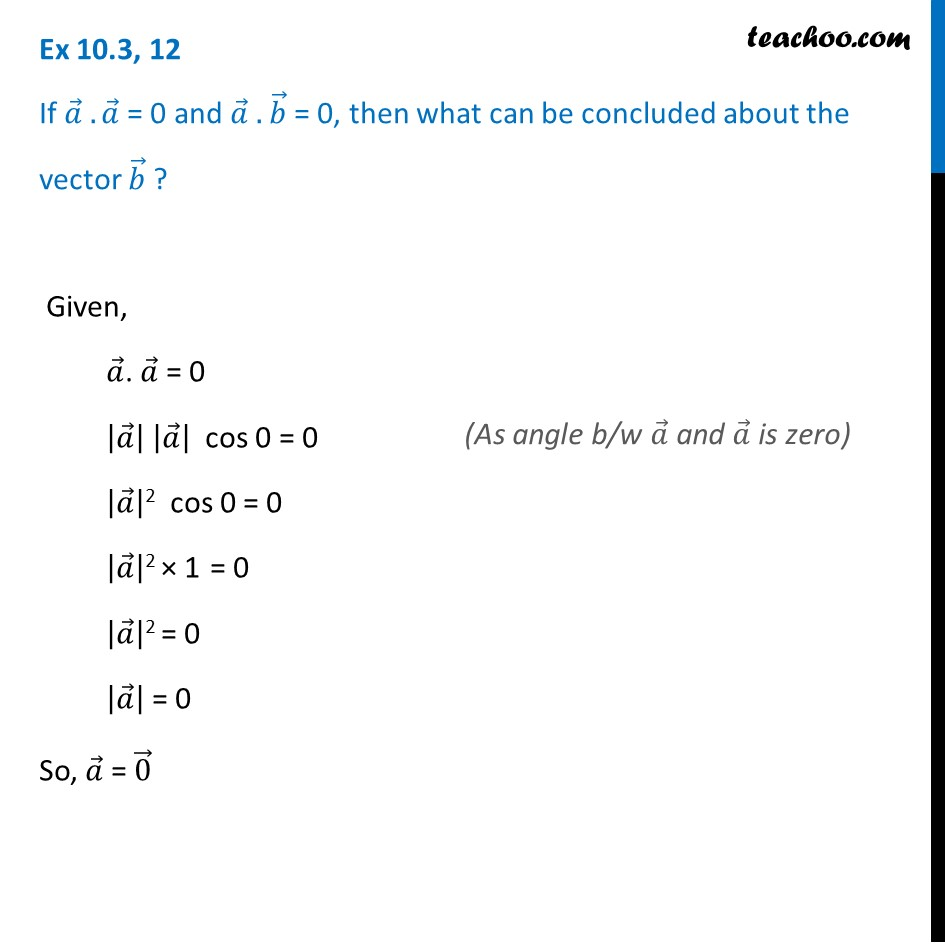 Ex 10.3, 12 - Chapter 10 Class 12 Vector Algebra - Part 3