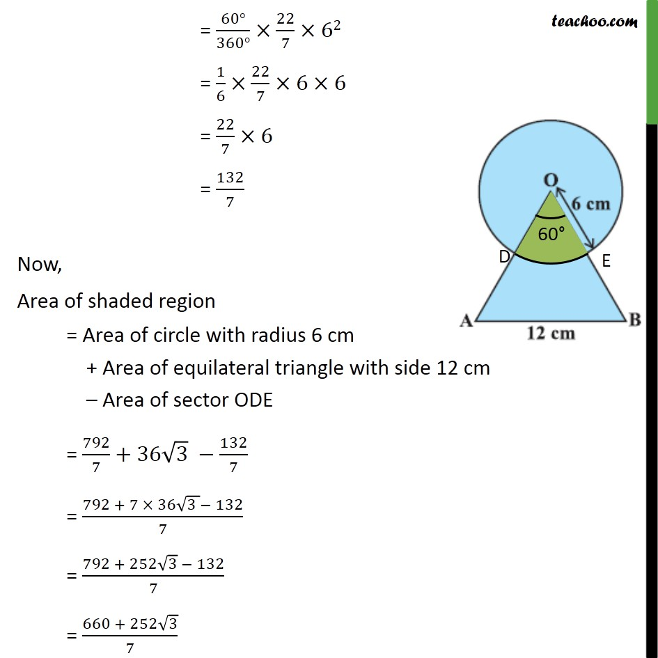 Ex 12.3, 4 - Chapter 12 Class 10 Areas related to Circles - Part 3