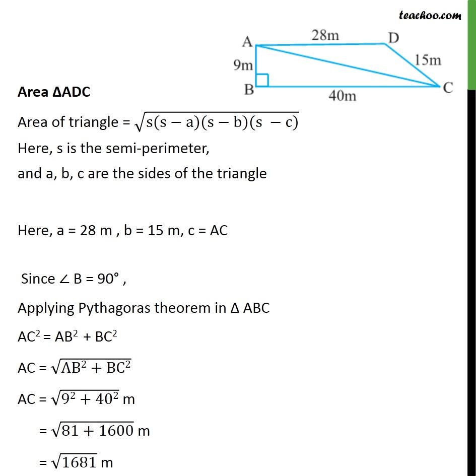 Example 5 - Chapter 12 Class 9 Herons Formula - Part 3