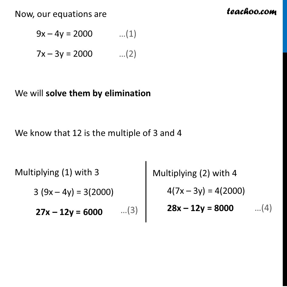 Example 11 - Chapter 3 Class 10 Pair of Linear Equations in Two Variables - Part 3