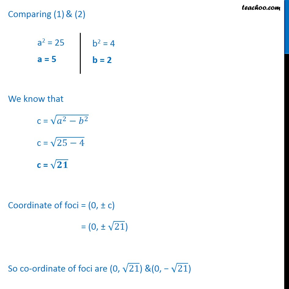 Ex 11.3,  2 - Chapter 11 Class 11 Conic Sections - Part 2