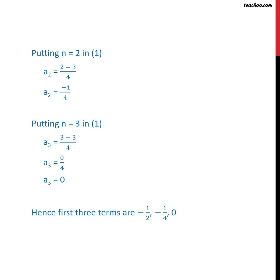 Example 1 - Chapter 9 Class 11 Sequences and Series - Part 4