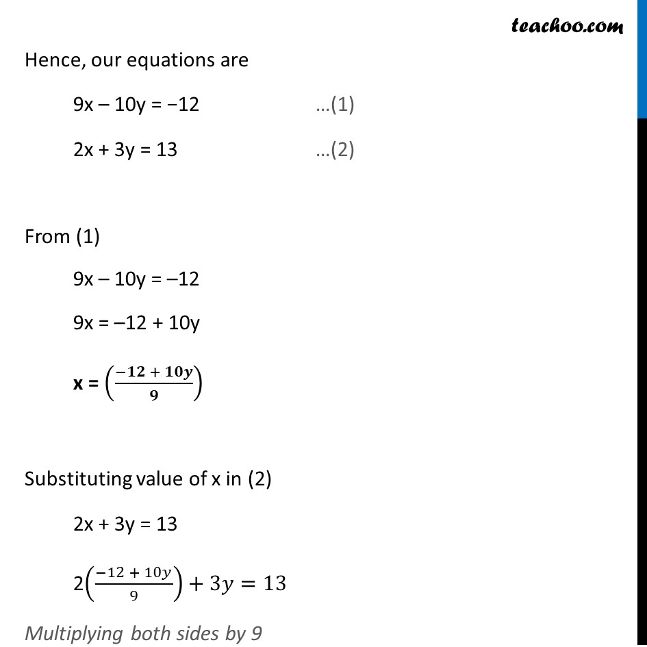 Ex 3.3, 1 - Chapter 3 Class 10 Pair of Linear Equations in Two Variables - Part 18