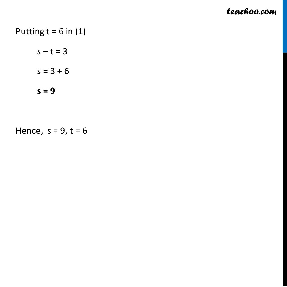 Ex 3.3, 1 - Chapter 3 Class 10 Pair of Linear Equations in Two Variables - Part 6