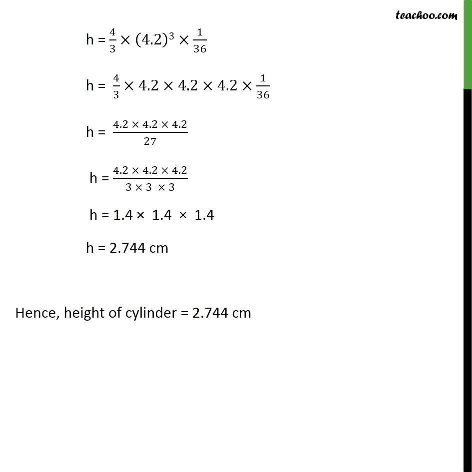 Ex 13 3, 1 Class 10 - A metallic sphere of radius 4 2 cm is