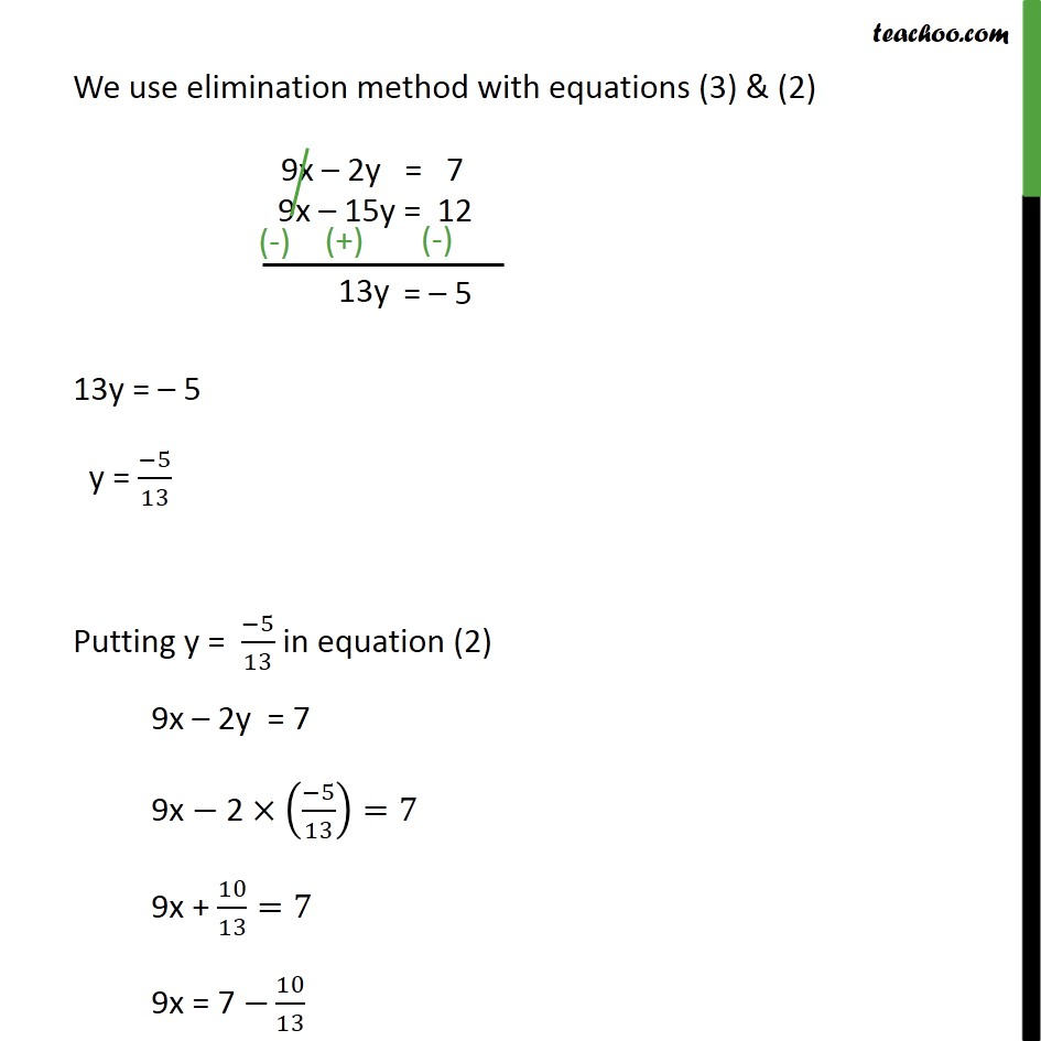 ex 3 4 1 solve by elimination and substitution i x y 5 2x 3y