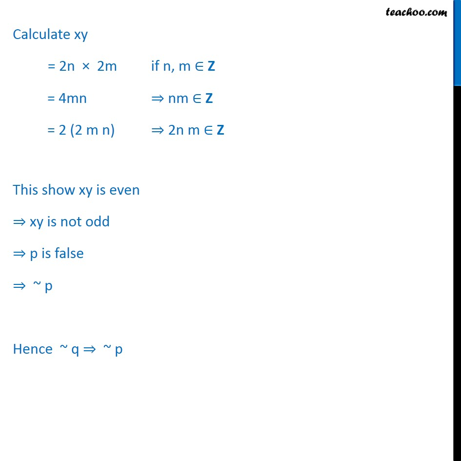 Example 14 - Chapter 14 Class 11 Mathematical Reasoning - Part 3