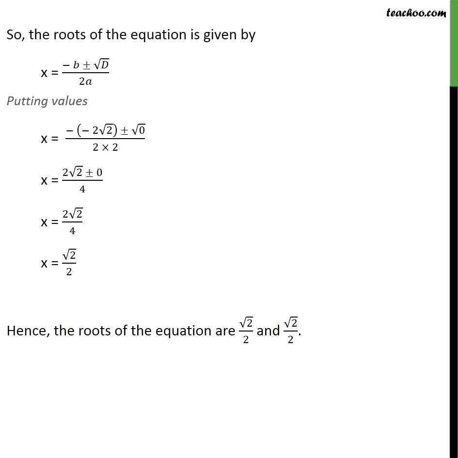 Example 13 - Chapter 4 Class 10 Quadratic Equations - Part 6