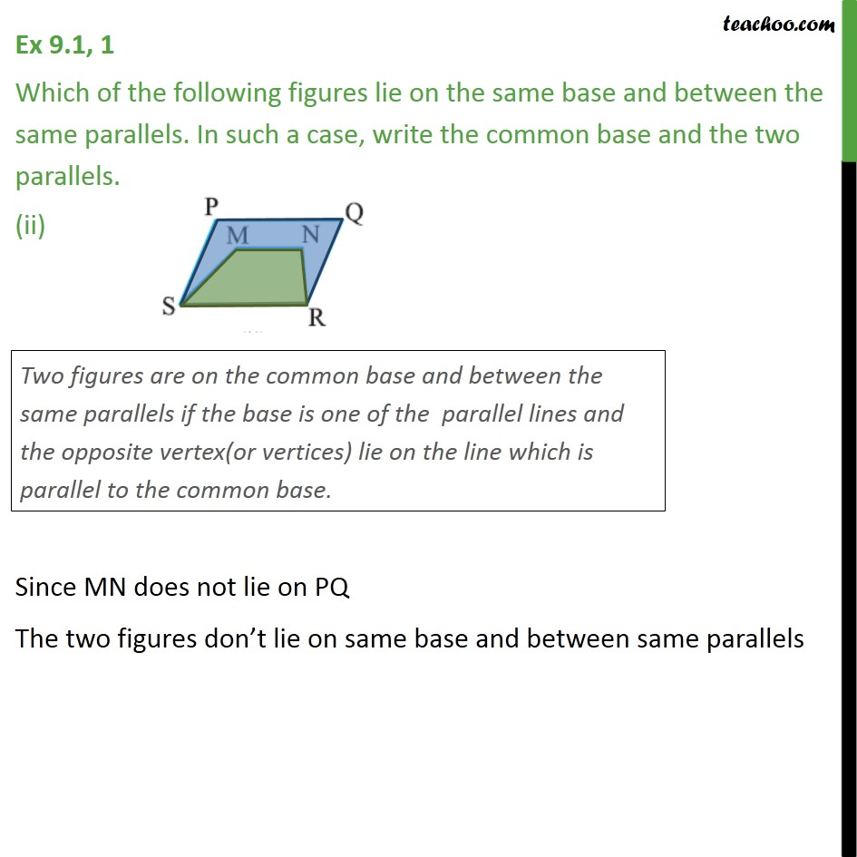 Ex 9.1, 1 - Chapter 9 Class 9 Areas of Parallelograms and Triangles - Part 2