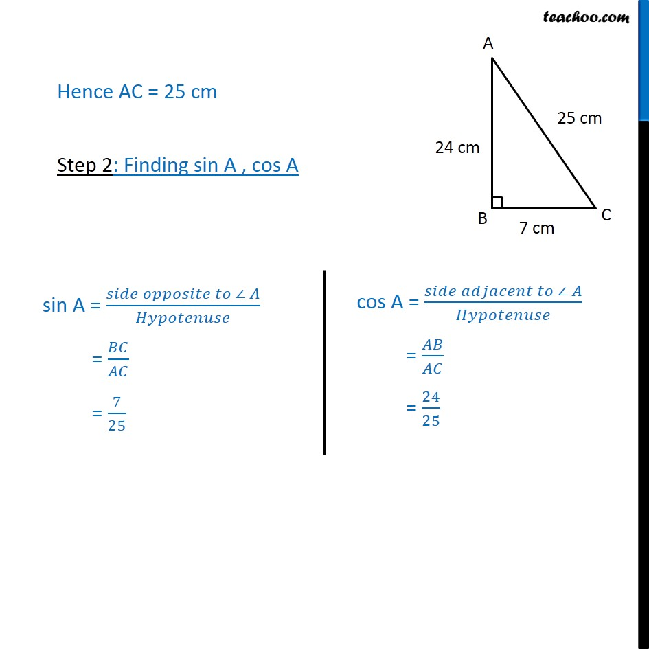 Ex 8.1, 1 - Chapter 8 Class 10 Introduction to Trignometry - Part 2