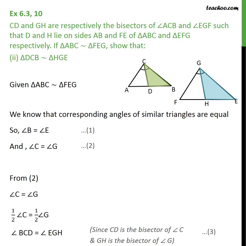 Ex 6.3, 10 - Chapter 6 Class 10 Triangles - Part 4