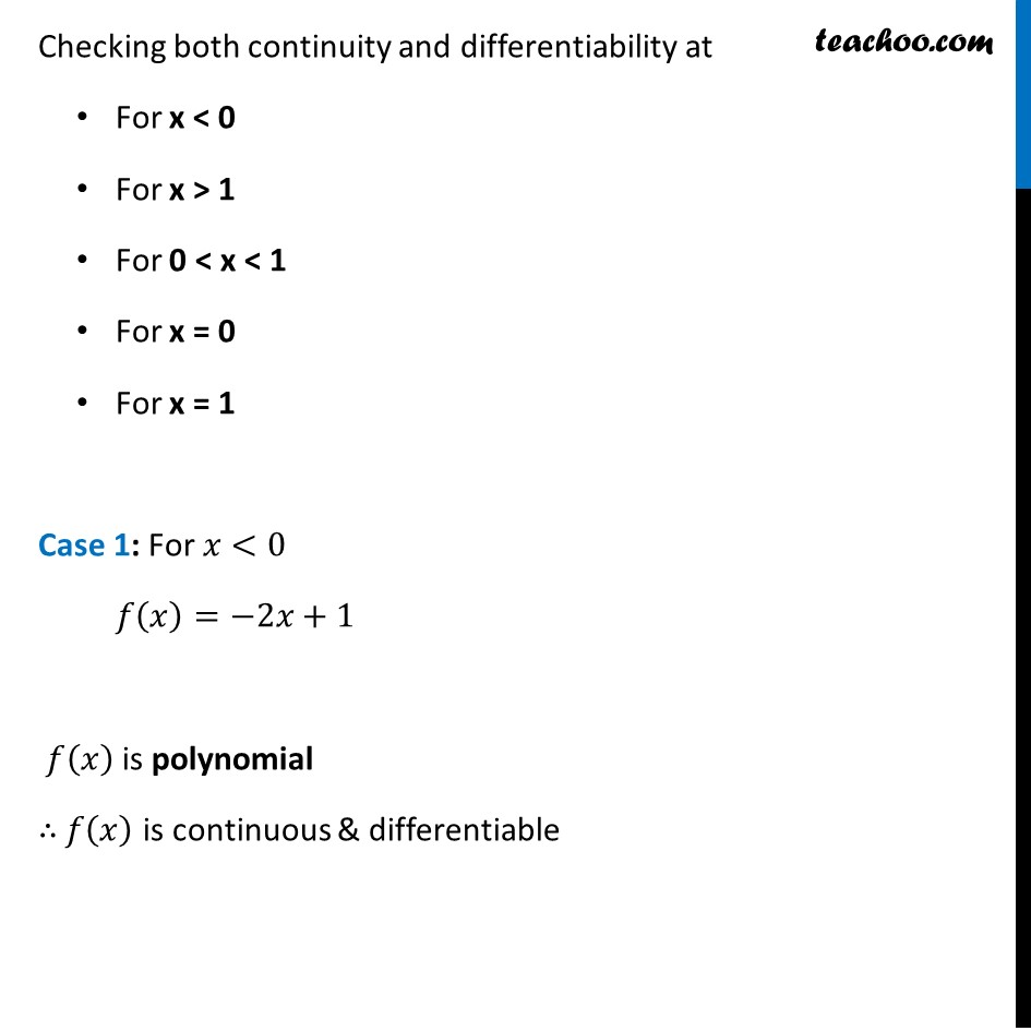 Misc  21 - Chapter 5 Class 12 Continuity and Differentiability - Part 2