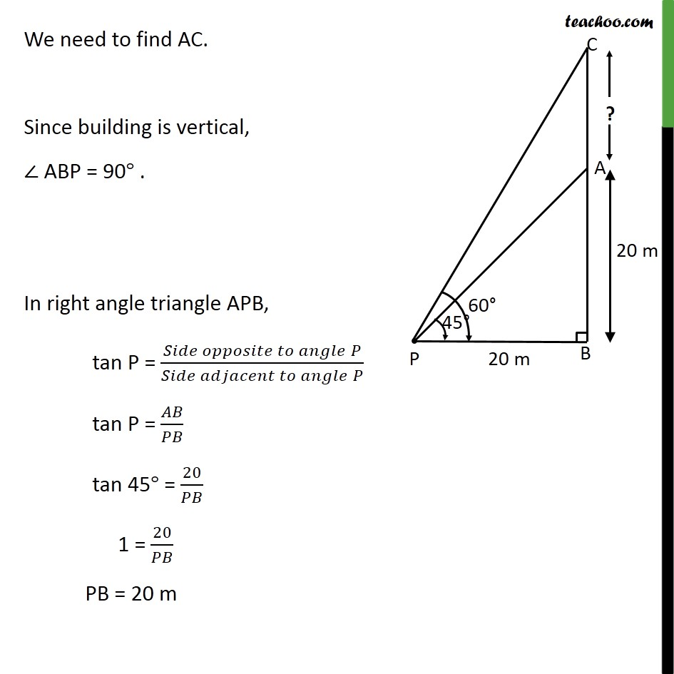 Ex 9.1, 7 - Chapter 9 Class 10 Some Applications of Trigonometry - Part 2