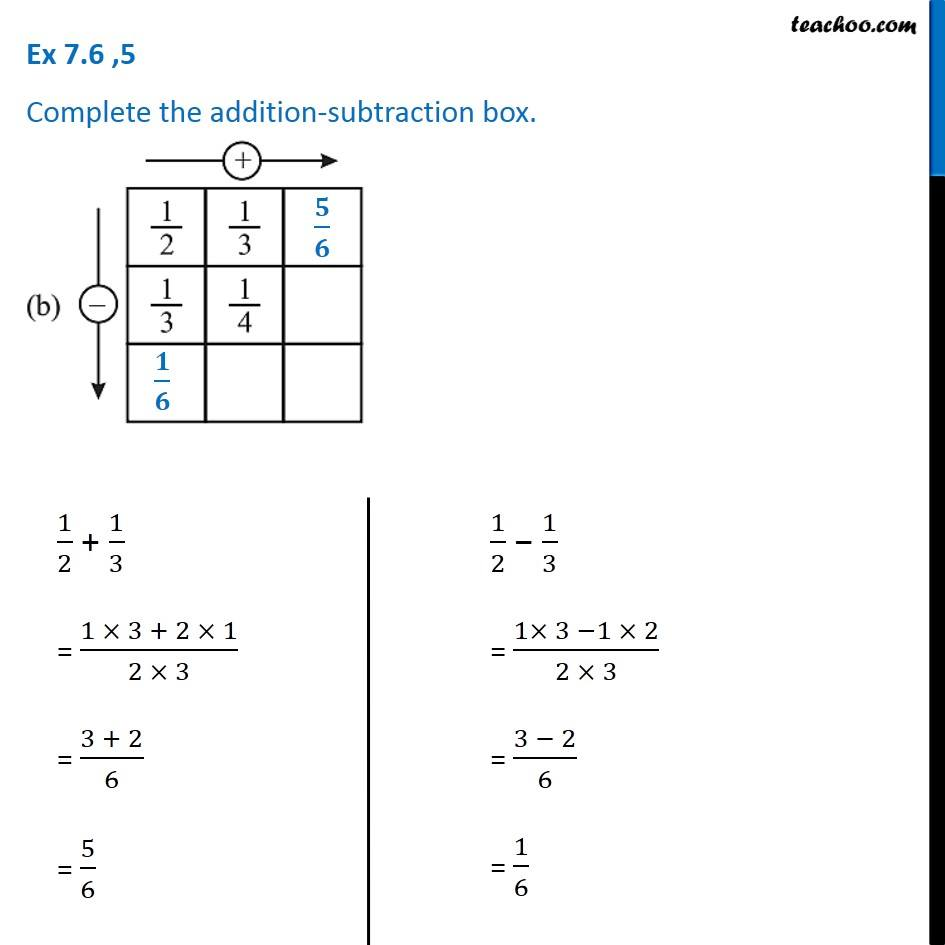Ex 7.6, 5 - Chapter 7 Class 6 Fractions - Part 3