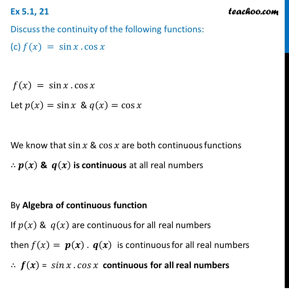 Ex 5.1, 21 - Chapter 5 Class 12 Continuity and Differentiability - Part 3