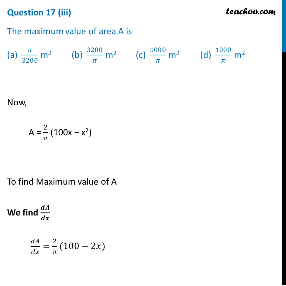 Question 17 - CBSE Class 12 Sample Paper for 2021 Boards - Part 6