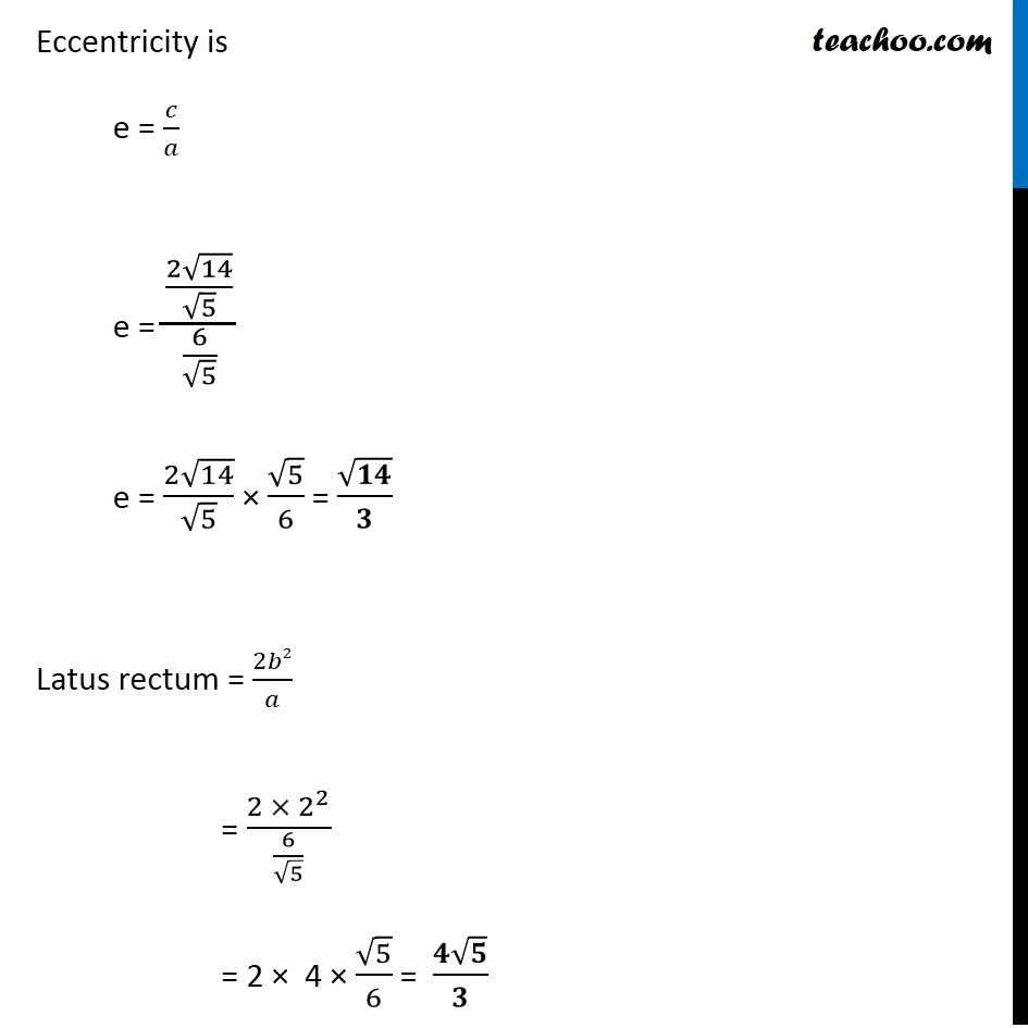 Ex 11.4,  5 - Chapter 11 Class 11 Conic Sections - Part 5