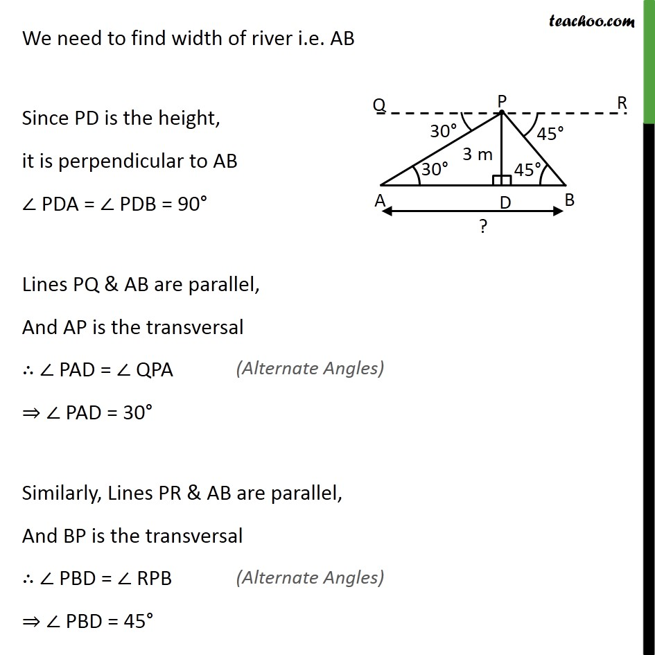 Example 7 - Chapter 9 Class 10 Some Applications of Trigonometry - Part 2