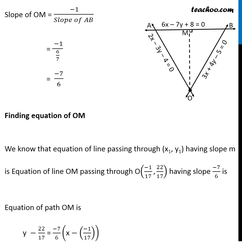 Misc 24 - Chapter 10 Class 11 Straight Lines - Part 7