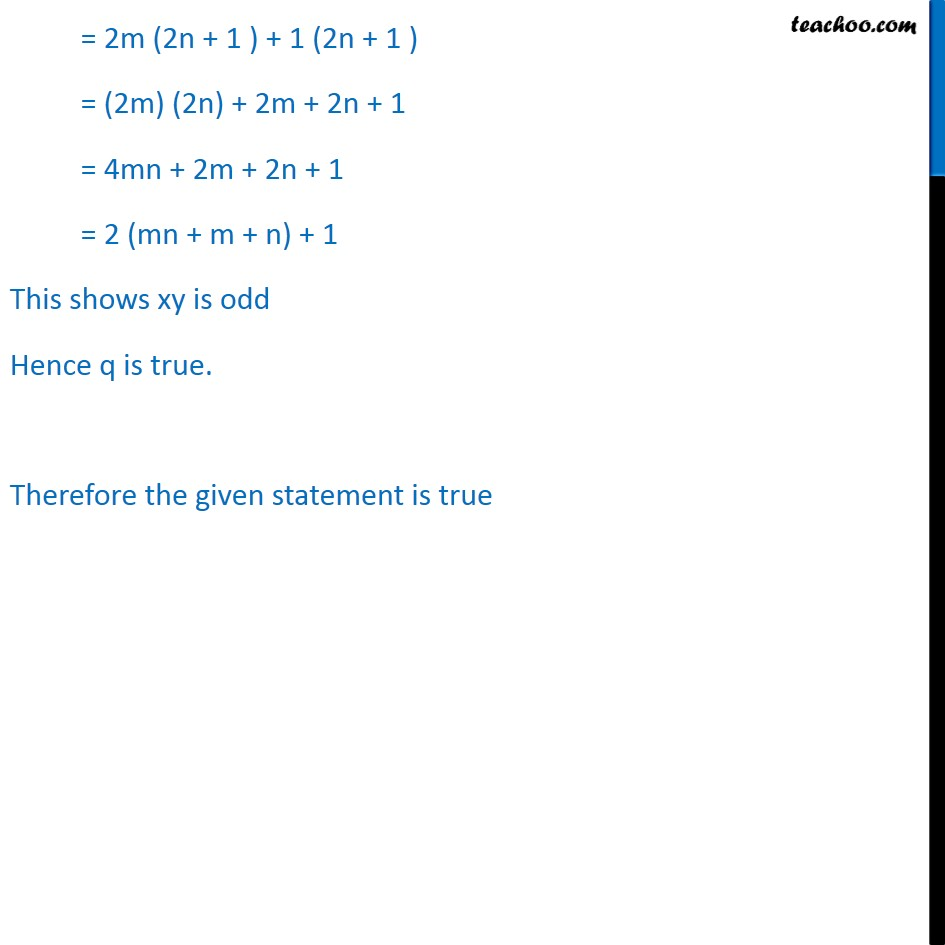 Example 13 - Chapter 14 Class 11 Mathematical Reasoning - Part 3