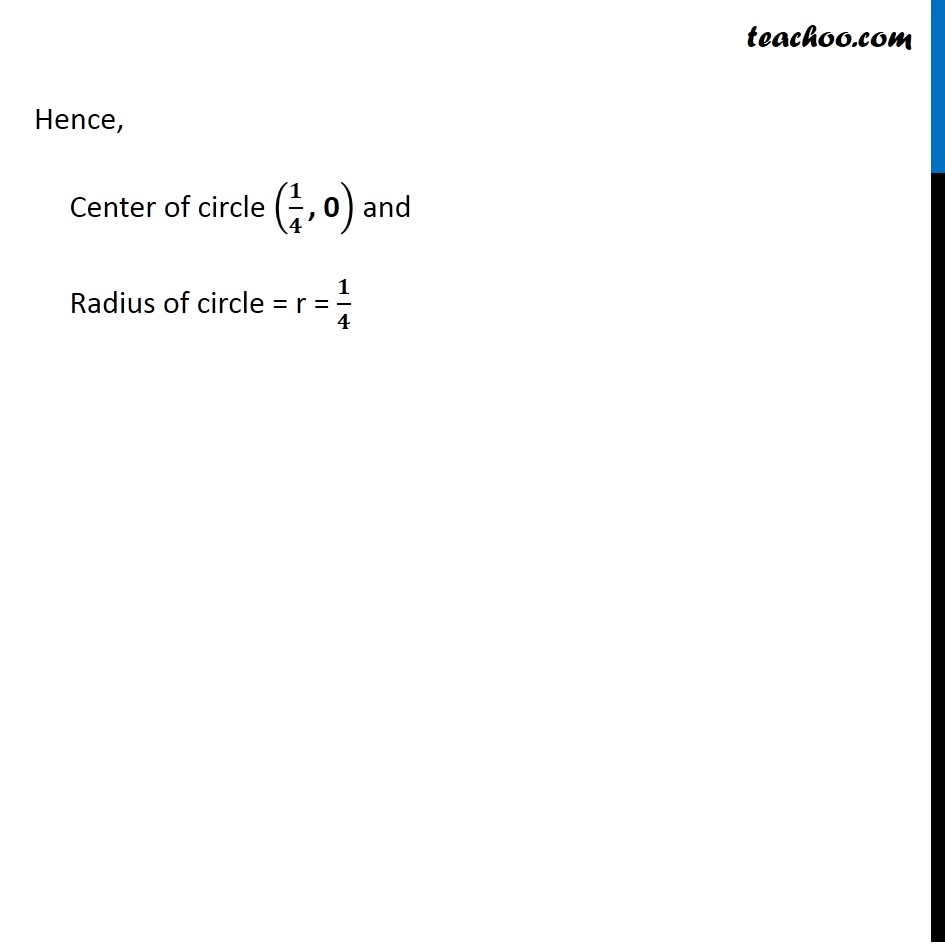 Ex 11.1,  9 - Chapter 11 Class 11 Conic Sections - Part 3