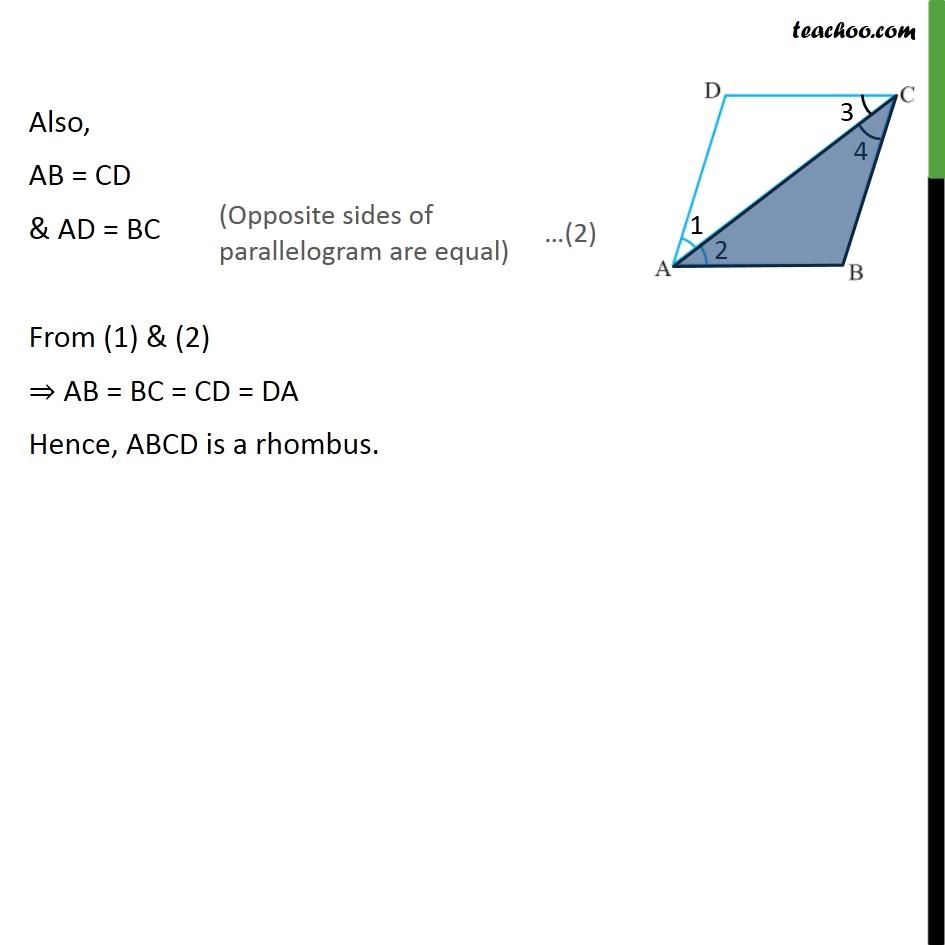 Ex 8.1, 6 - Chapter 8 Class 9 Quadrilaterals - Part 4