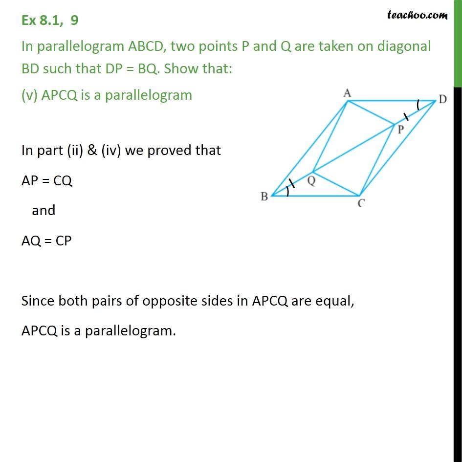 Ex 8.1, 9 - Chapter 8 Class 9 Quadrilaterals - Part 5