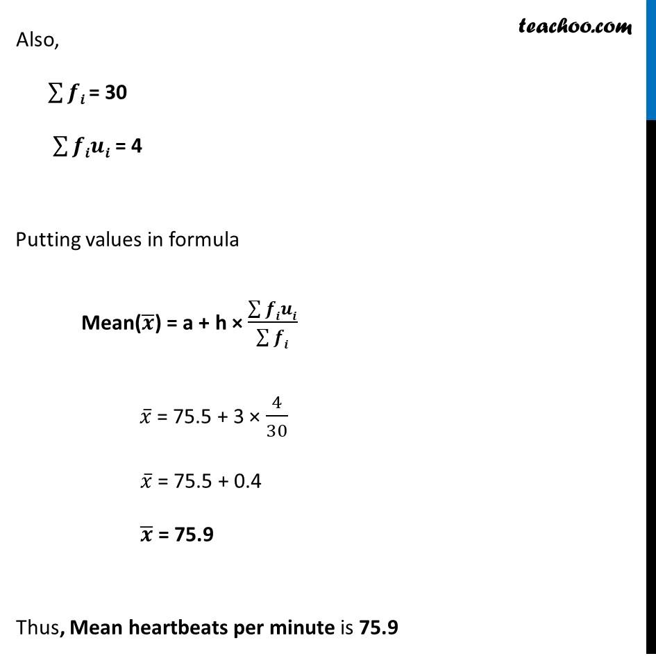 Ex 14.1, 4 - Chapter 14 Class 10 Statistics - Part 3