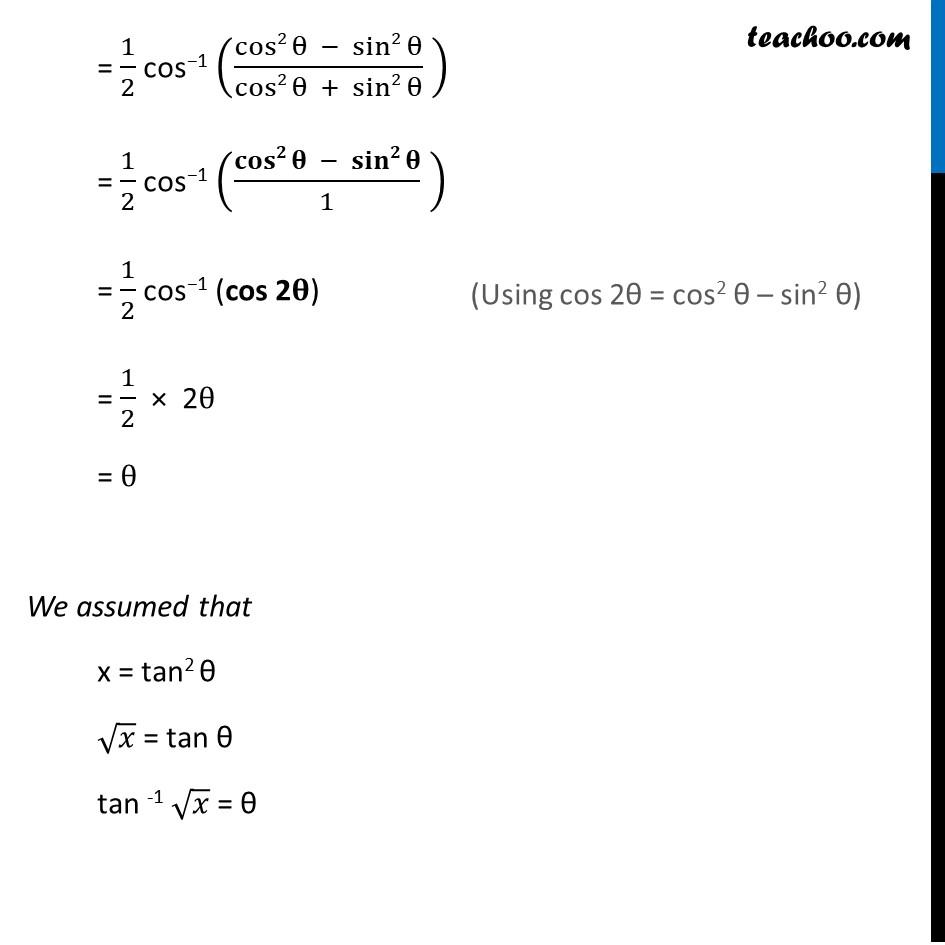 Misc. 9 - Chapter 2 Class 12 Inverse Trigonometric Functions - Part 2