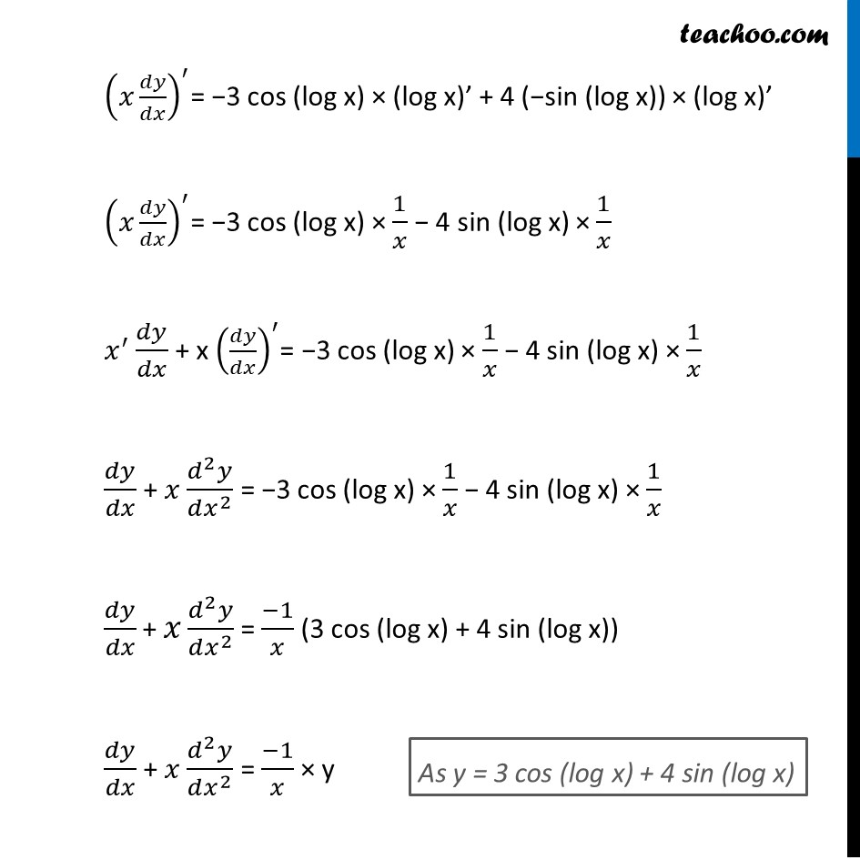 Ex 5.7, 13 - Chapter 5 Class 12 Continuity and Differentiability - Part 2
