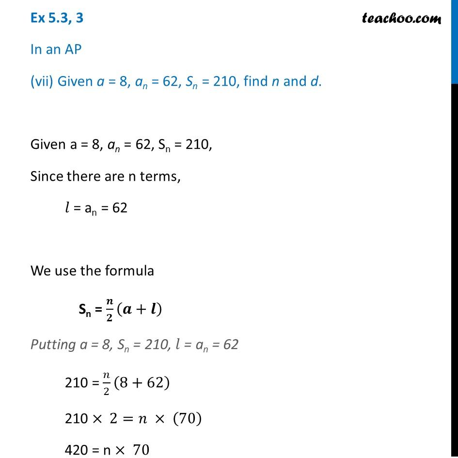 Ex 5.3, 3 - Chapter 5 Class 10 Arithmetic Progressions - Part 17