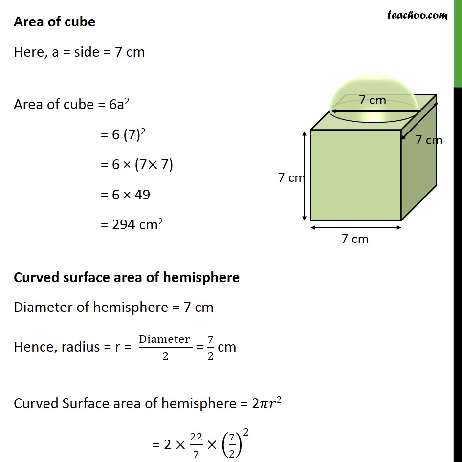 Ex 13.1, 4 - Chapter 13 Class 10 Surface Areas and Volumes - Part 2