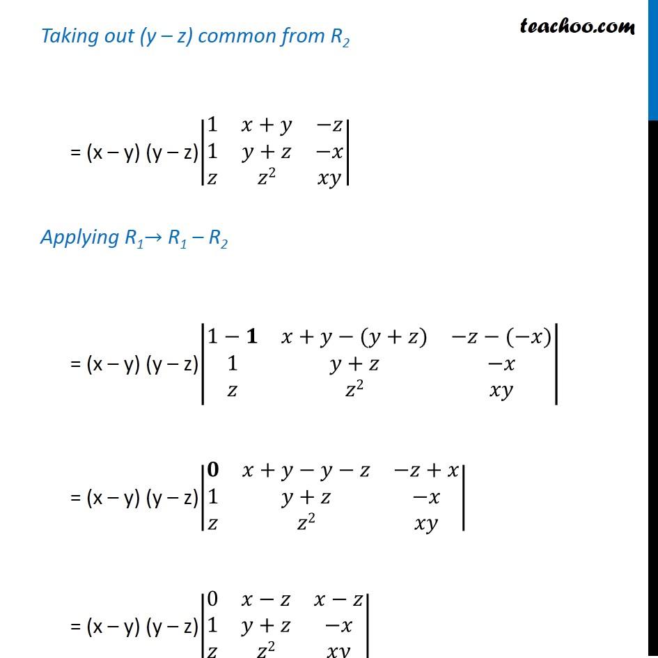 Ex 4.2, 9 - Chapter 4 Class 12 Determinants - Part 3