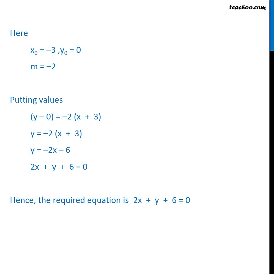 Ex 10.2, 5 - Chapter 10 Class 11 Straight Lines - Part 2