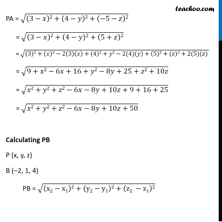 Example 12 - Chapter 12 Class 11 Introduction to Three Dimensional Geometry - Part 2