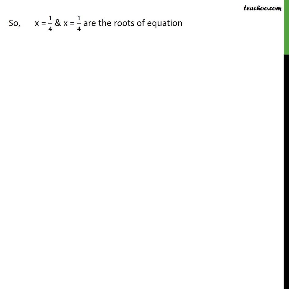 Ex 4.2, 1 - Chapter 4 Class 10 Quadratic Equations - Part 5