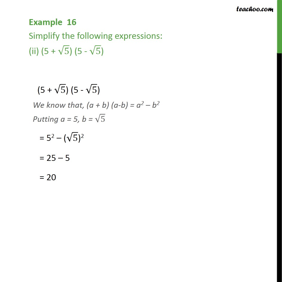 Example 16 - Chapter 1 Class 9 Number Systems - Part 2