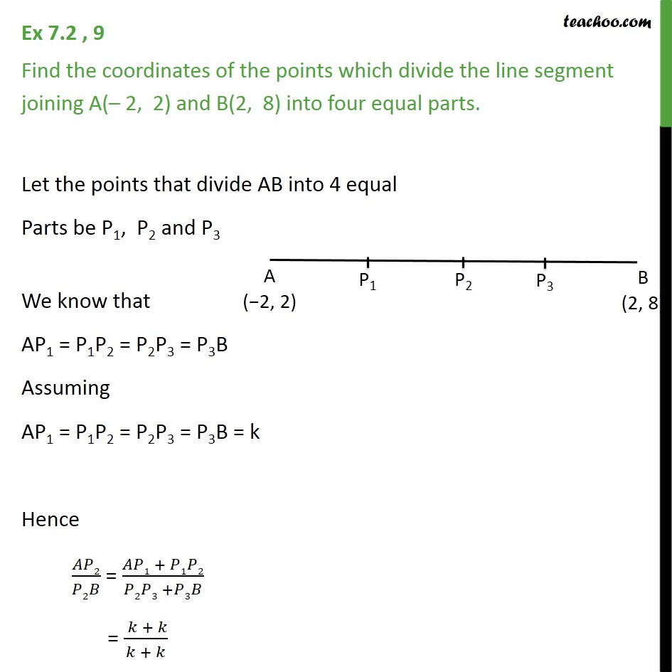 Ex 7.2, 9 - Find coordinates of points which divide A(-2, 2) - Section Formula- Finding coordinates