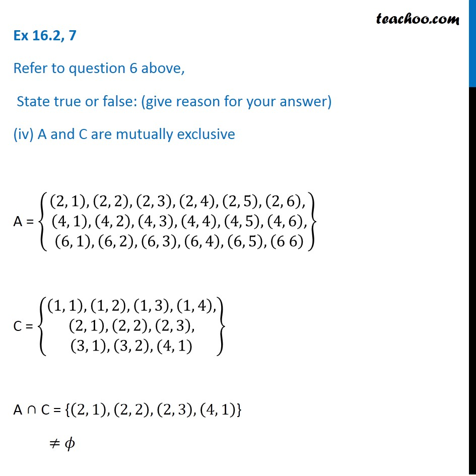 Ex 16.2, 7 - Chapter 16 Class 11 Probability - Part 7