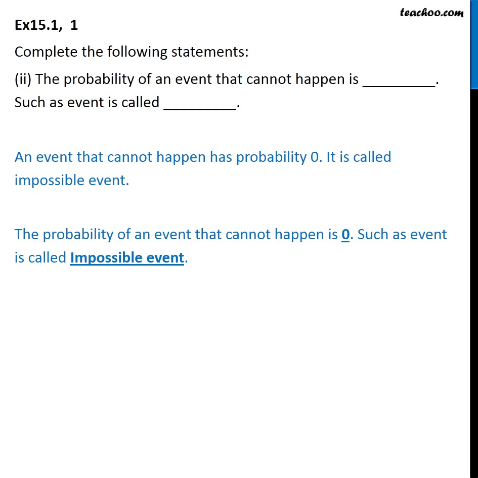 Ex 15.1, 1 - Chapter 15 Class 10 Probability - Part 2