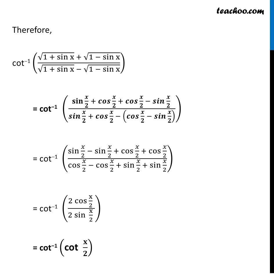 Misc. 10 - Chapter 2 Class 12 Inverse Trigonometric Functions - Part 3