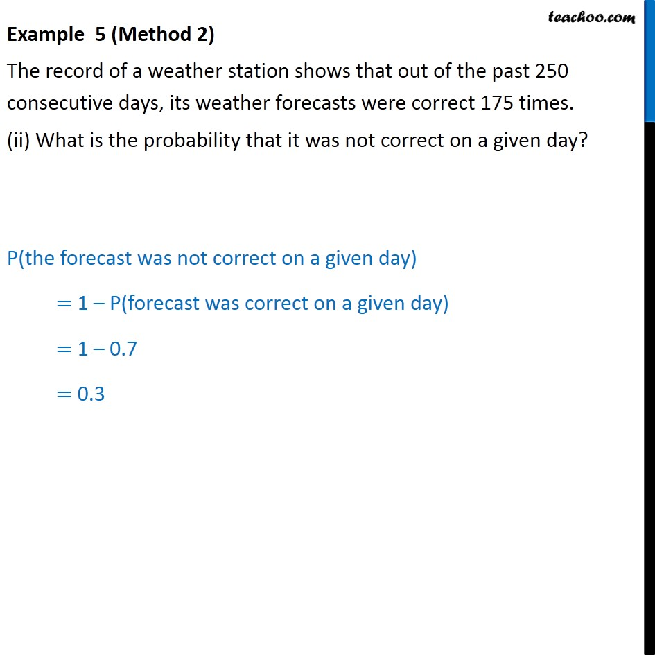 Example 5 - Chapter 15 Class 9 Probability - Part 3
