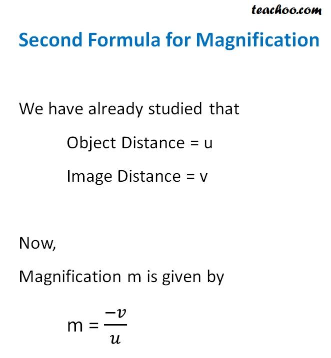 Second Formula for Magnification - Teachoo.jpg