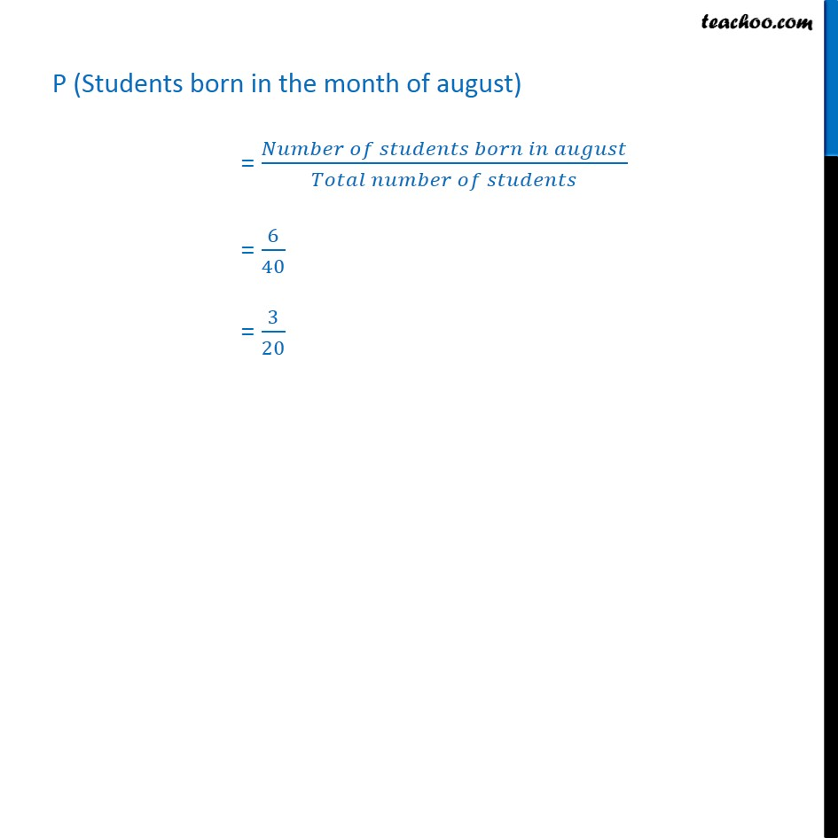 Ex  15.1, 3 - Chapter 15 Class 9 Probability - Part 2