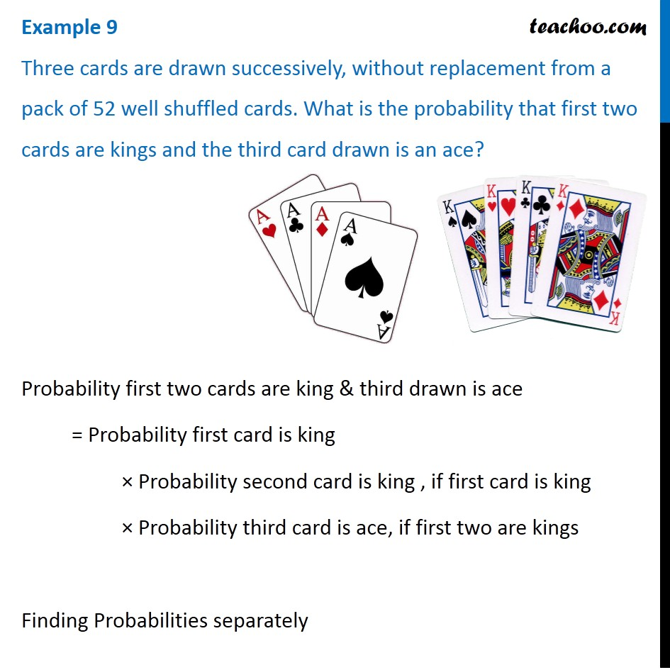 Three cards are drawn successively from a pack of 52 well shuffled